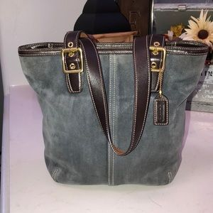 COACH Leather Suede Purse style No C33-9579